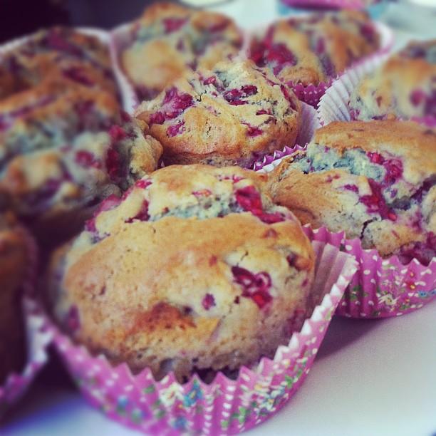 Muffins A La Framboise Qui Deboitent